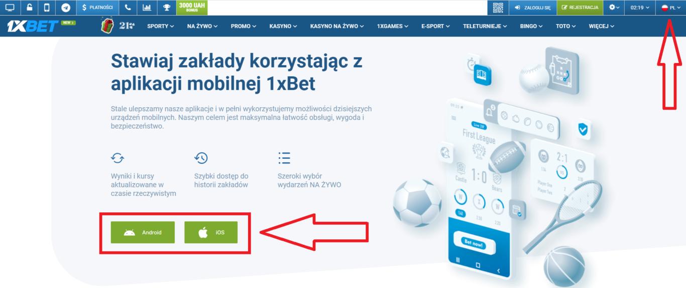 1xBet aplikacja: sposoby pobierania na smartfony